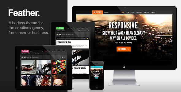 Feather - Responsive Portfolio WordPress Theme
