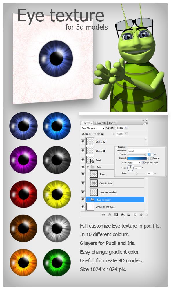 3DOcean Eye texture 103606