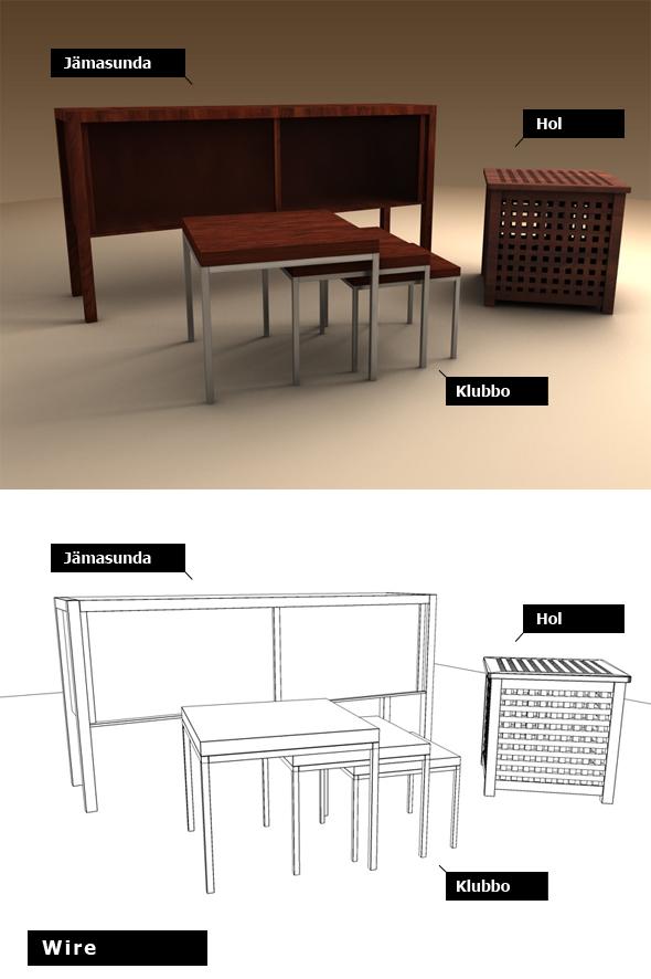 3DOcean Ikea set 3 pieces 103635