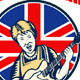 Keep Calm Rock On British Flag Queen Granny Guitar - GraphicRiver Item for Sale