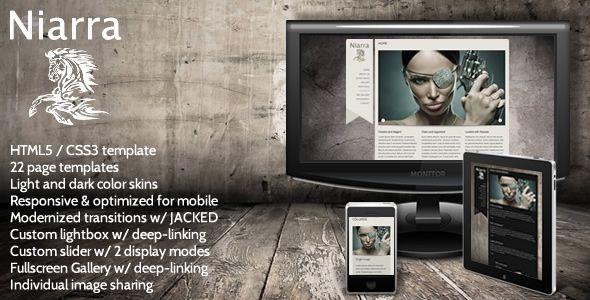 Niarra - Creative Responsive HTML5 Template
