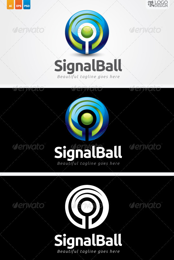 Signal Ball - 3d Abstract