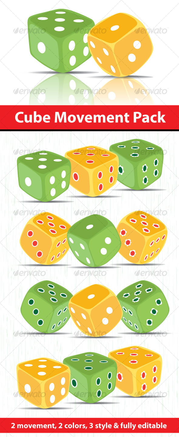 GraphicRiver Dice Game Cube Pack 103714