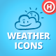 60 Hand-drawn Weather Icons - GraphicRiver Item for Sale