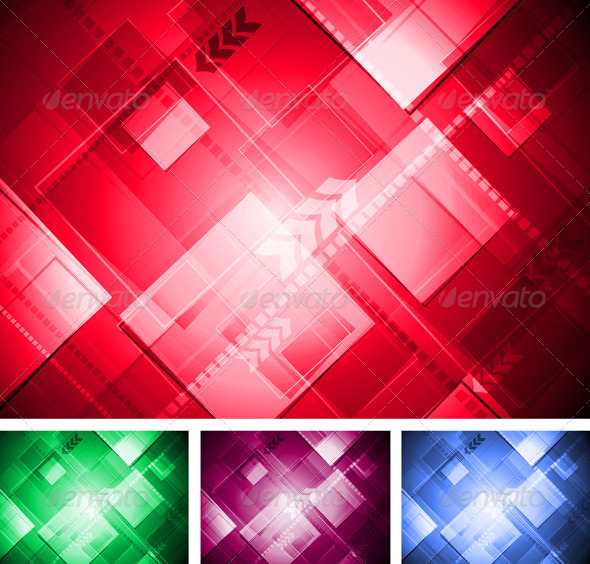 Colorful technical design - Abstract Conceptual