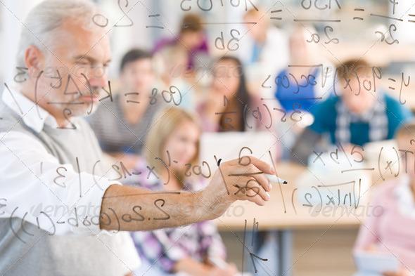 PhotoDune Math Lesson At High School Students 226671