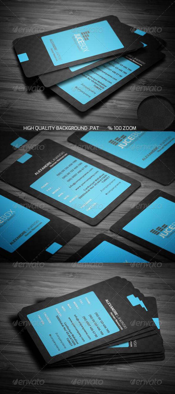 GraphicRiver Blue Modern Business Card 2891208