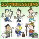 33 Cartoon Illustrations of Professions  - GraphicRiver Item for Sale