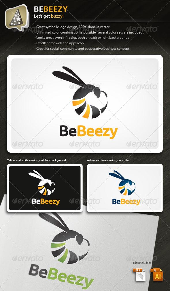 BeBeezy - Bee Logo For Your Social Business - Animals Logo Templates