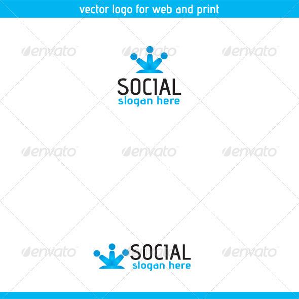 Social Logo Template Three - Symbols Logo Templates