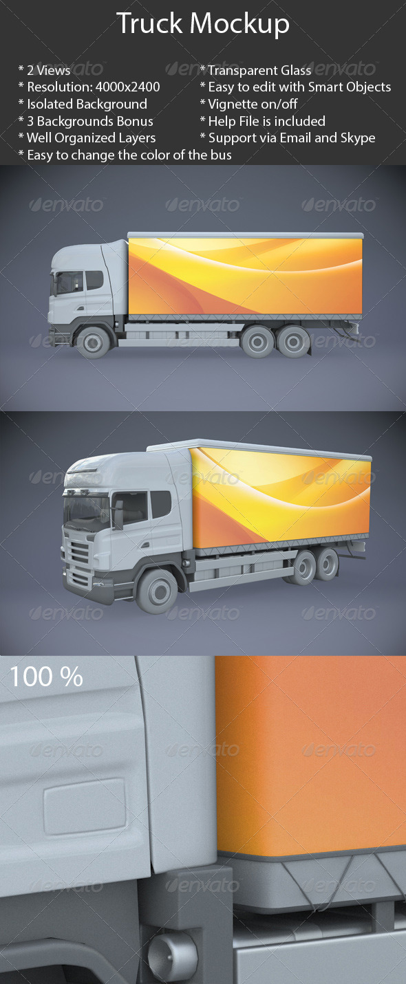 Truck Mock-Up - Vehicle Wraps Print