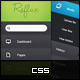 CSS Dashboard Vertical Navigation