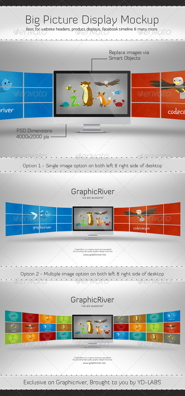 GraphicRiver Big Picture Display Mockup 2891369