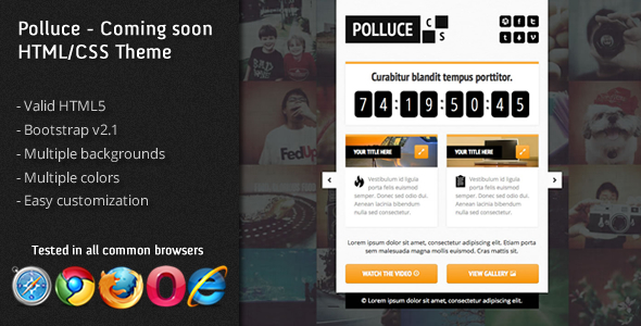 Polluce - Unconventional coming soon HTML Them