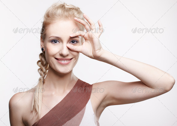 blonde girl - Stock Photo - Images