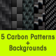 5 Fiber Carbon Patterns - GraphicRiver Item for Sale