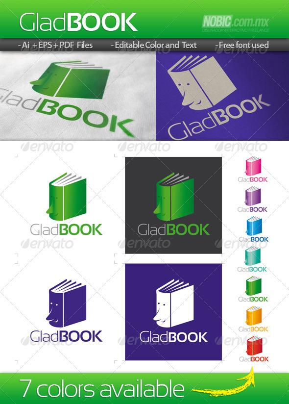 Glad Book Logo Template