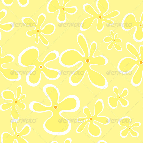 Summer Flowers Seamless Pattern - Artistic Textures / Fills / Patterns