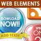 Glossy Web Elements Pack - GraphicRiver Item for Sale