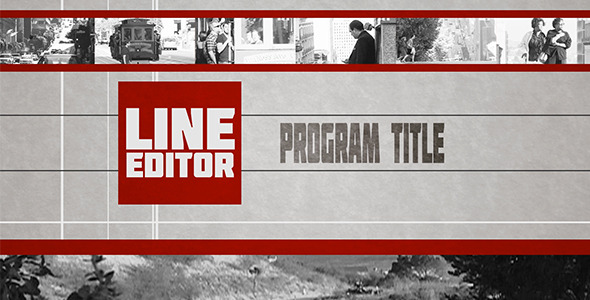 After Effects Project - VideoHive Line Editor Broadcast Pack 2894280