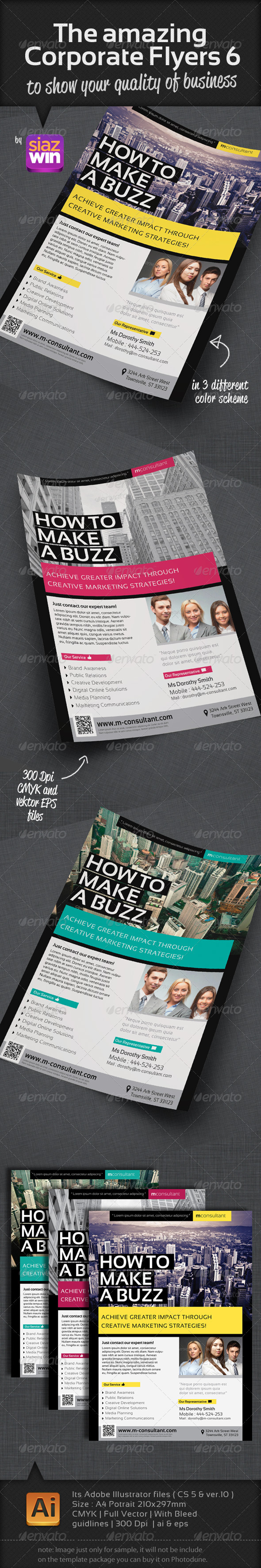 GraphicRiver The Amazing Corporate Flyers 6 2894725