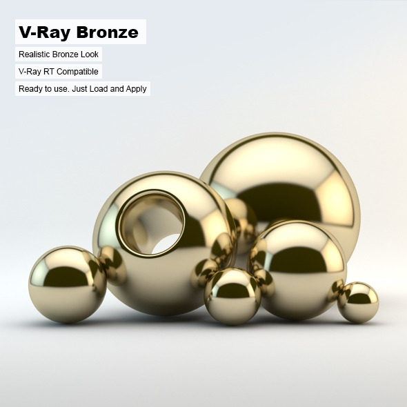 3DOcean V-Ray Bronze Material 2894728