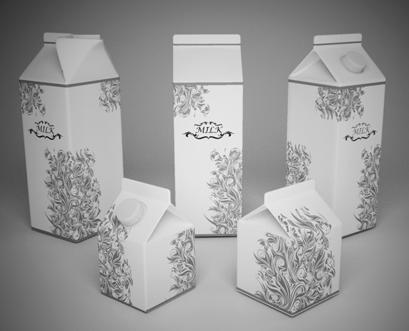 3DOcean Milk Cartons 2894787