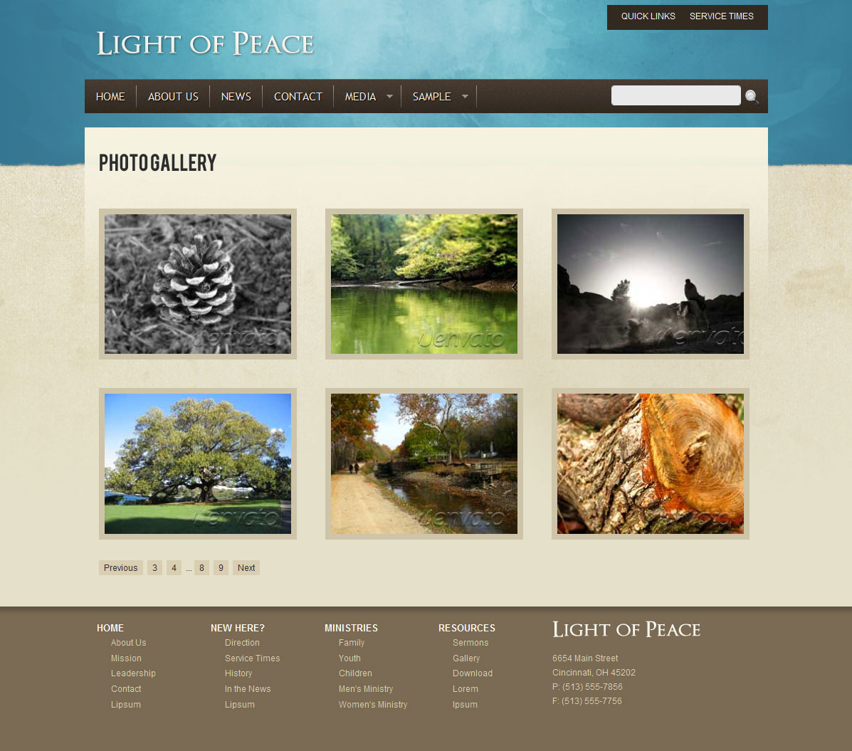 Light of Peace - This is the photo gallery template.