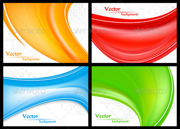 GraphicRiver Abstract colourful waves 2897998