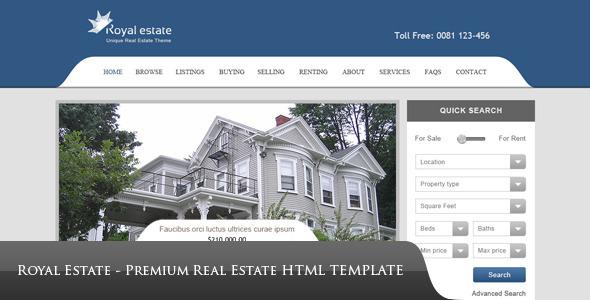 ThemeForest Royal Estate Premium Real Estate Theme 2744703