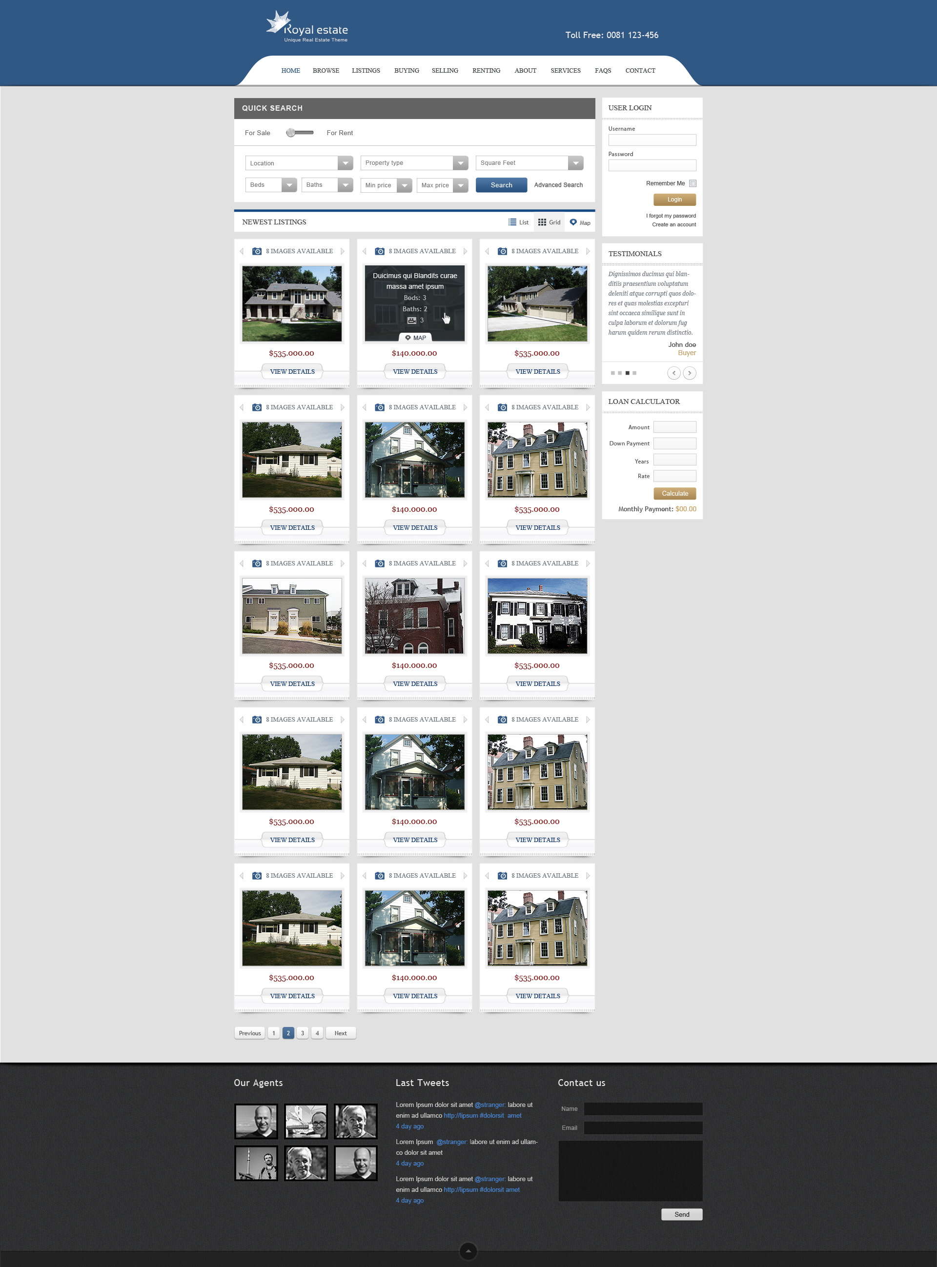 Royal Estate - Premium Real Estate Theme