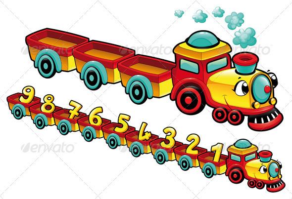 GraphicRiver Funny train 2898156