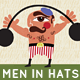 Men in Hats, 3 Quirky Retro Style Cartoons - GraphicRiver Item for Sale
