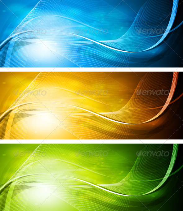 Set of bright banners - Backgrounds Decorative