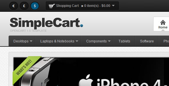 ThemeForest SimpleCart for OpenCart 1.5 eCommerce OpenCart 2356962