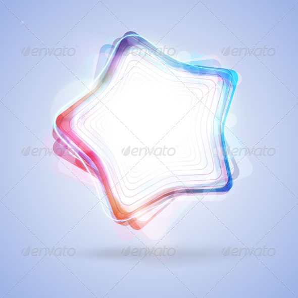 GraphicRiver Vector glowing color star 2900176