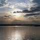 Sunset Over The Town From Shore - VideoHive Item for Sale