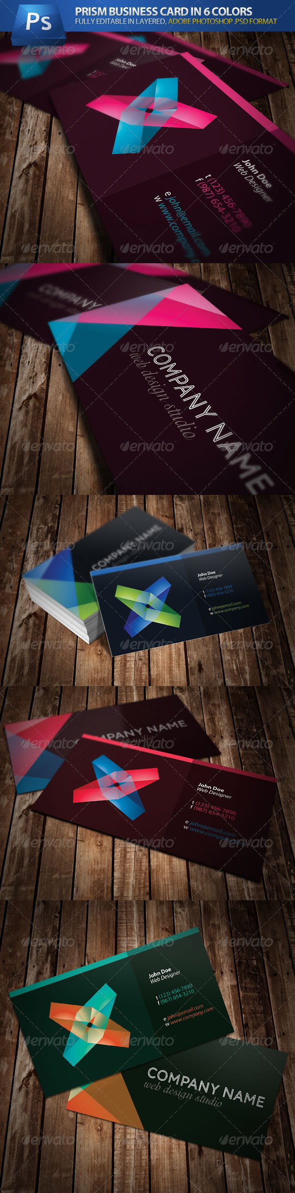 Prism Business Card - Creative Business Cards