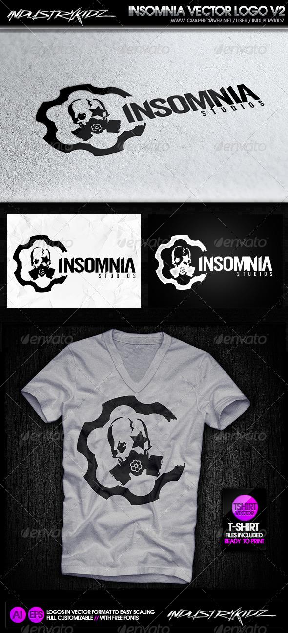 Insomnia Gas Mask Logo - Symbols Logo Templates