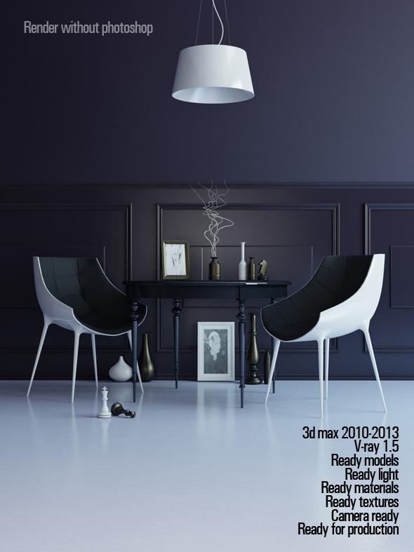 3DOcean Finished render interior scene 2902088