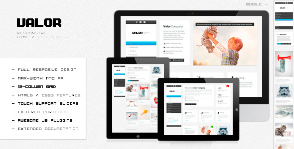 VALOR - Responsive HTML Template