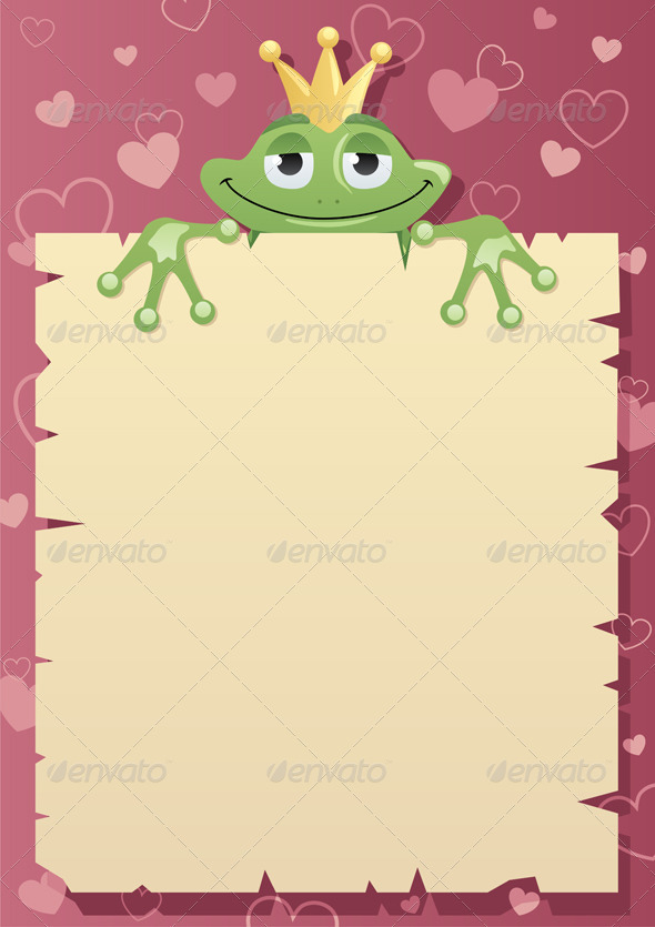 Frog Prince Letter - Borders Decorative