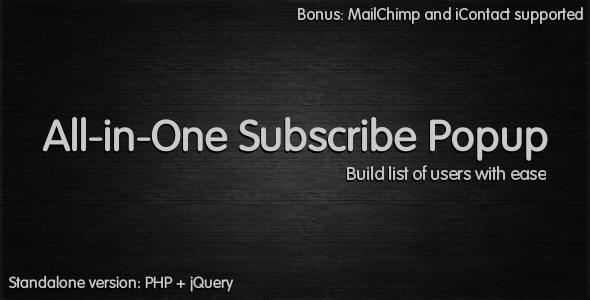 CodeCanyon All-in-One Subscribe Popup 2902529