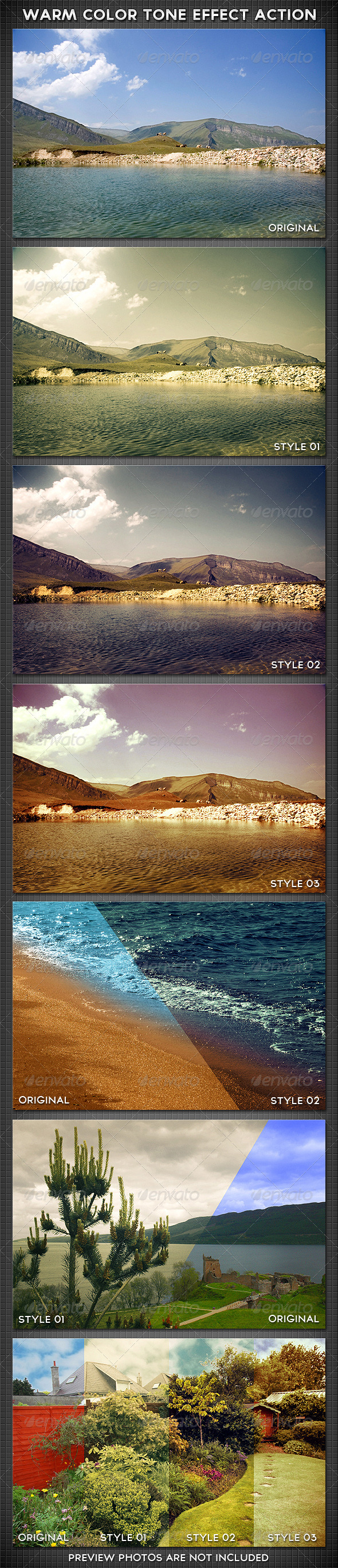 Warm Color Tone Effect Action - Photo Effects Actions