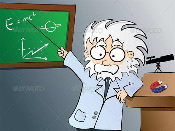 GraphicRiver Physics teacher in class 2903437