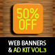 Multipurpose Web Banner & Ad Kit - Vol.3 - GraphicRiver Item for Sale