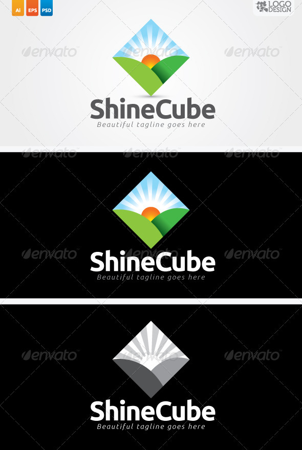 Shine Cube - Nature Logo Templates