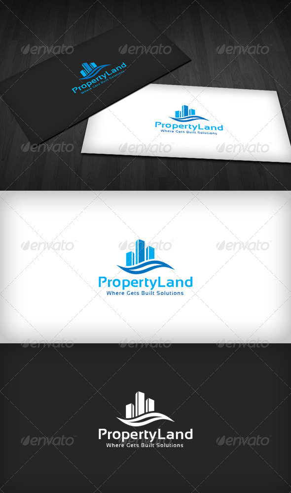 Property Land Logo - Buildings Logo Templates