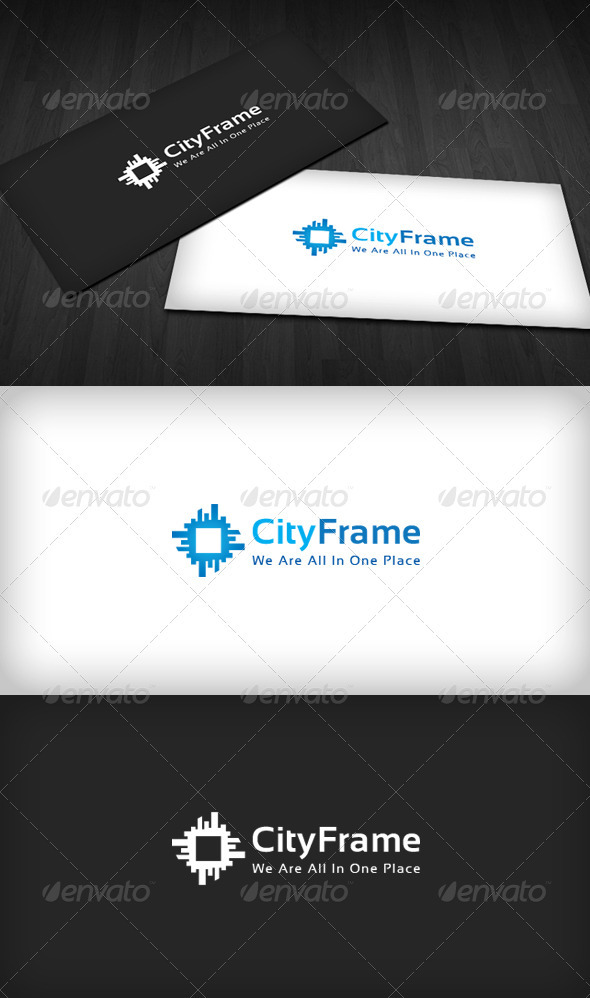 City Frame Logo - Buildings Logo Templates