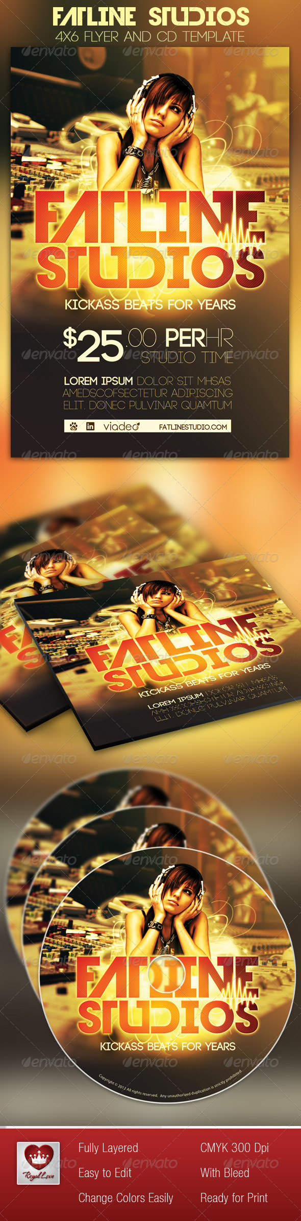GraphicRiver Fatline Studios Flyer and CD Template 2905406